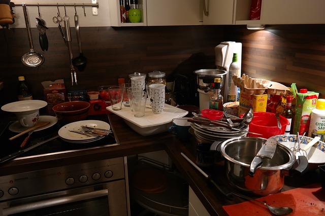 kuchyně a bordel