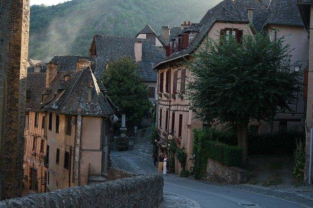 středověká vesnice lane