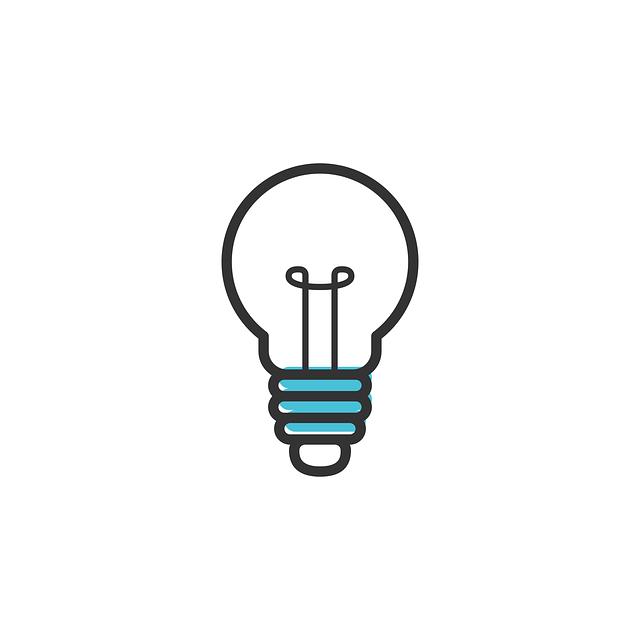 nakreslená žárovička