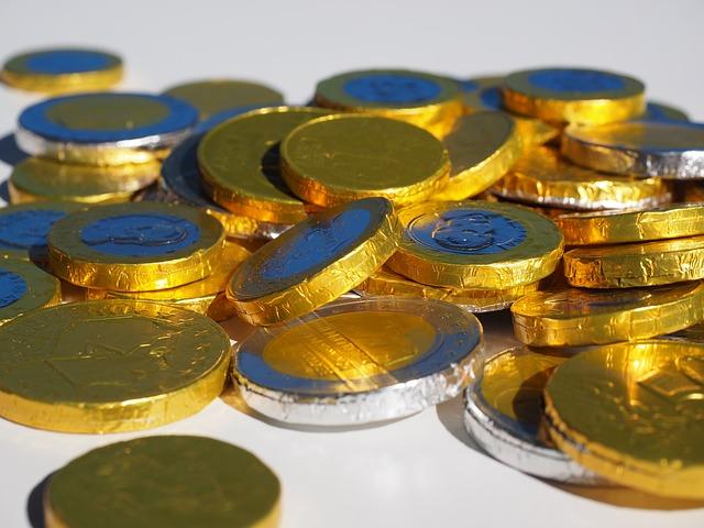 zlaté mince, detail
